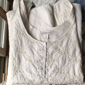 Cold water Creek 2X sleeveless lined top